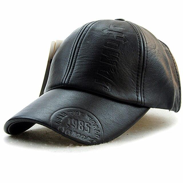 Xthree Новая мода высокого качества осень зима мужчины кожа hat Cap повседневная moto snapback hat мужская бейсболка оптовая