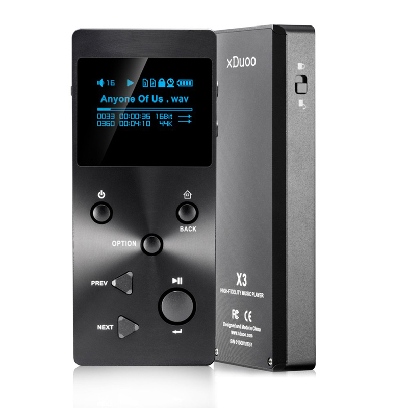 2017 Professional Lossless Digital MP3 HIFI Player Original XDUOO X3 with HD OLED Screen Support 256GB