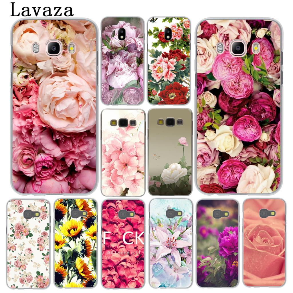 Lavaza Peony Sunflowe Rose Daisy Plum Plants Flower Phone Case for Samsung Galaxy A3 A5 J3 J5 J7 2015 2016 2017 Grand Prime A5