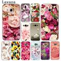 Lavaza peonía el girasol Rosa Daisy Plum plantas flor caso de teléfono para Samsung Galaxy A3 A5 J3 J5 J7 2015, 2016 de 2017 gran primer A5