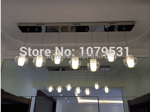 LED Crystal Glass Ball Pendant Lamp Meteor Rain Meteoric Shower Stair Bar Droplight ORB Crystal Chandelier Lighting