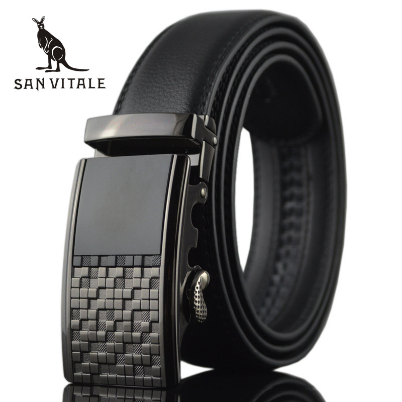 <font><b>Belt</b></font> For Men <font><b>Belts</b></font> Genuine Leather Ratchet Straps Elastic Reversible Large Size 2018 New High Quality Reversible Designer Casual image
