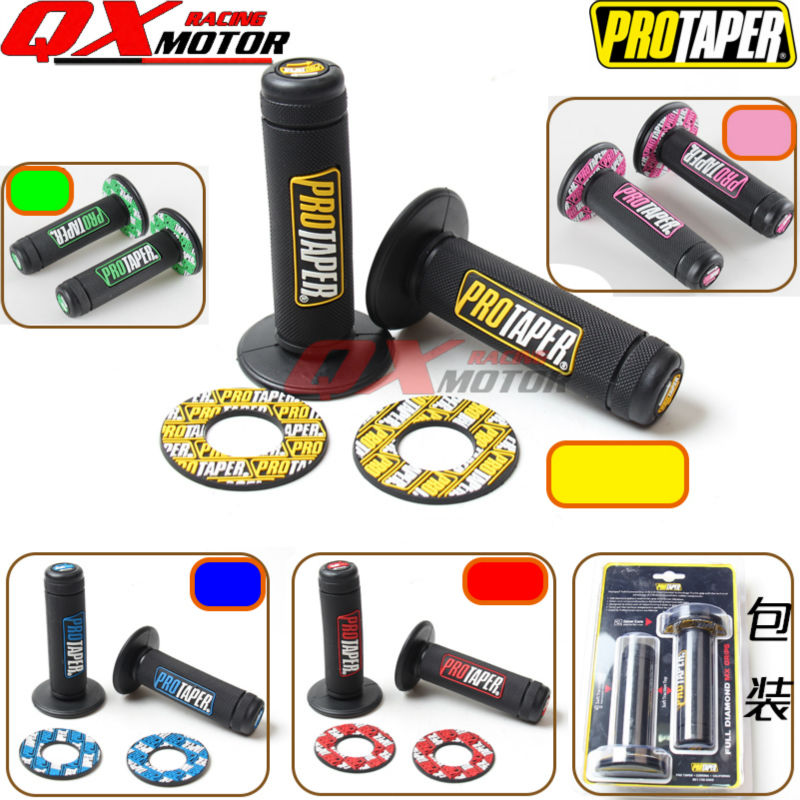 Motorcycle Pro Taper Grip Handle MX Grip Fit Dirt Pit Bike Motorcross 7/8 Handlebar Rubber GEL Hand Grips Free shipping 1 1 8 handlebars 28mm pro taper fat bars grips cnc bar risers bar pad for dirt bike pit bike motocross motorcycle