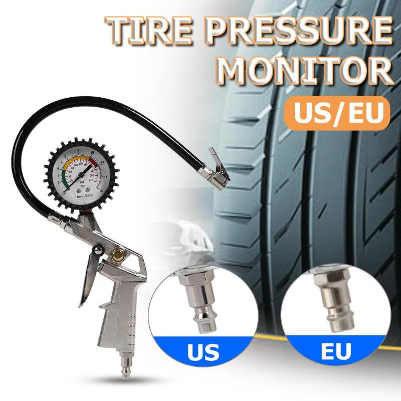 0-220 Psi Car Tire Pressure Gauge Pointer Tyre Air Pressure Inflator Inflate Tyre Pressure Car Measuring Tire Pressure Gauge