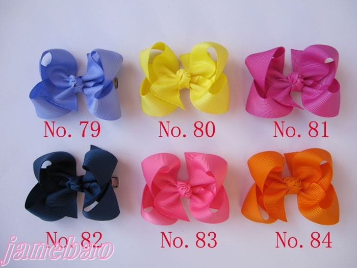 100 шт. 3,5 дюйма бутик заколки для волос для девочек женские аксессуары для волос Разноцветные слой банты волосов забавные, для волос Луки
