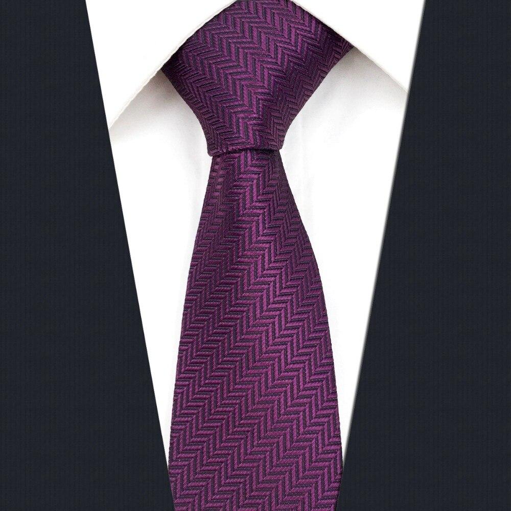 C11 Solid Purple Silk Mens Skinny Tie Wedding Slim Ties For Men Accessory 6cm