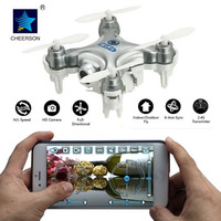 Cheerson CX 10W Wifi Helicopter FPV Real Time Video Mini Quadcopter RC Drone UFO With 0