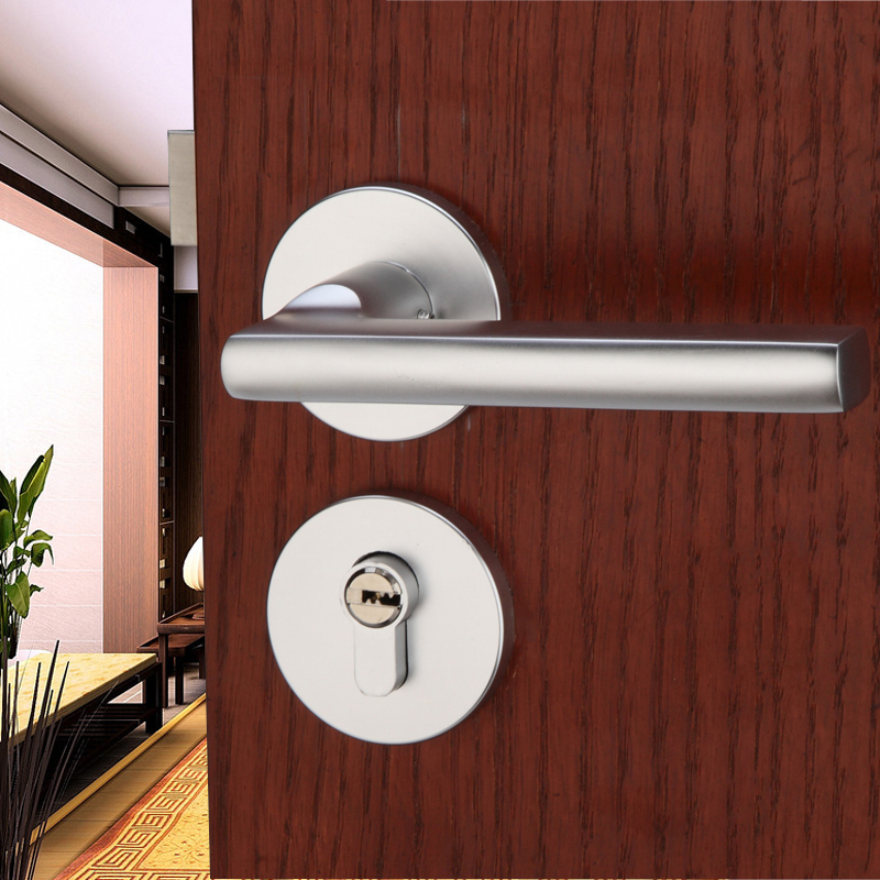 European space aluminum lock door locks modern minimalist - Door handles with locks for bedrooms ...