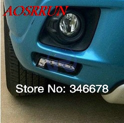for Mitsubishi ASX RAR 2012-2015 daytime running light LED Lamp car accessories car-styling for 3D sticker Car Interior cawanerl car canbus led package kit 2835 smd white interior dome map cargo license plate light for audi tt tts 8j 2007 2012