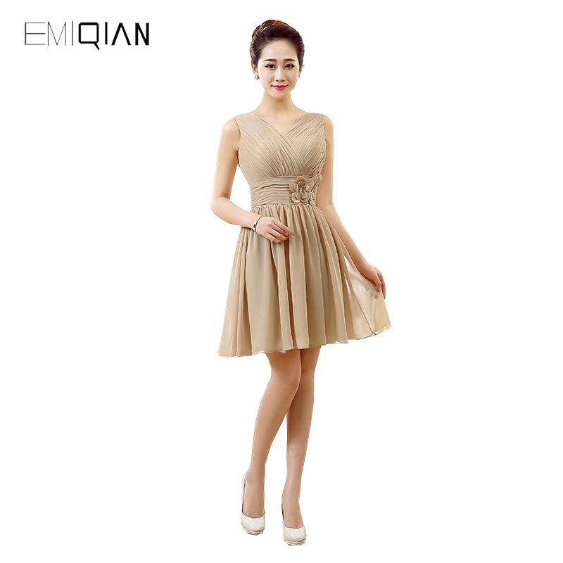 Original Design Simple V Neck Chiffon   Cocktail     Dresses   Lace-up