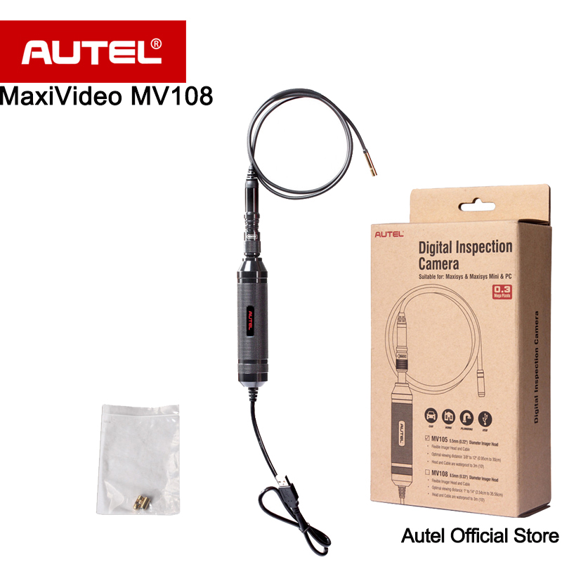 Autel MaxiVideo MV108 8.5mm Digital Inspection Camera Powerful and perfect for inspecting most spark plug holes