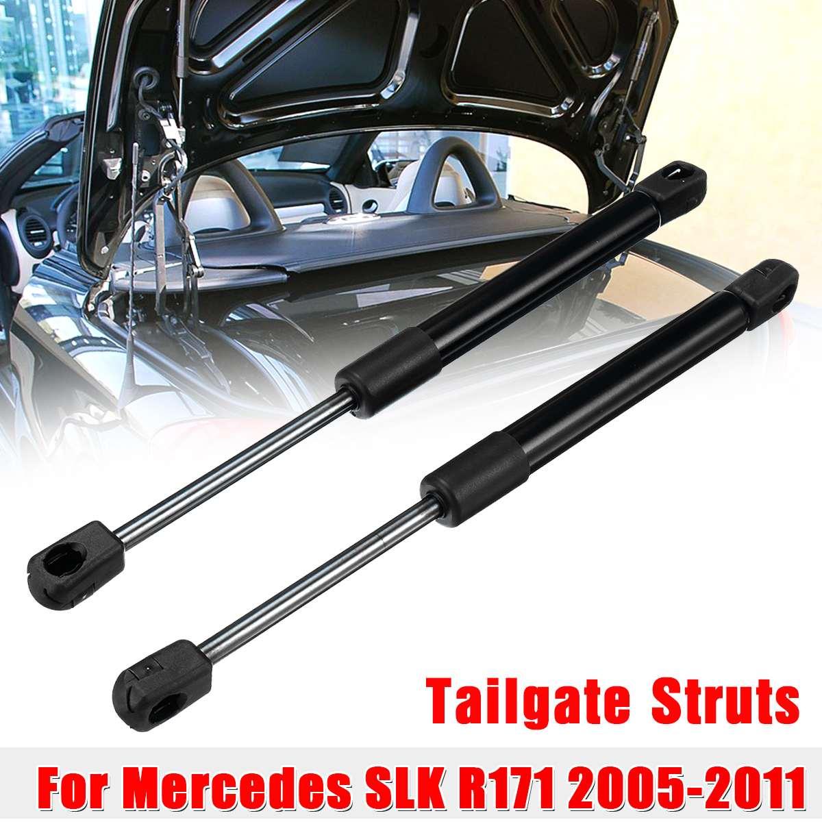 2X maletero trasero portón trasero descarga de resorte de gas elevación puntales soporte barra 1717500036 para Mercedes Benz SLK para R171 2005-2011
