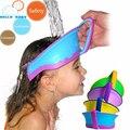 Bonito novo Chapéu Viseira Banho Do Bebê Chuveiro Ajustável Cap Proteja Shampoo cabelo Lavagem Escudo para Crianças Infantil Splashguard À Prova D' Água