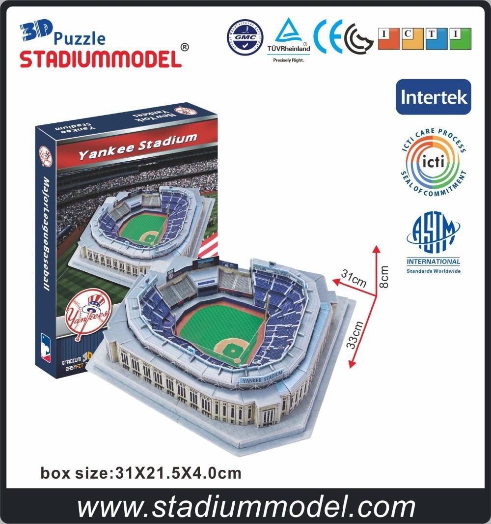 MajorLeagueBaseball MLB New York Yankees NYY Maison Yankee Stadium 3D Puzzle Modèle de Papier