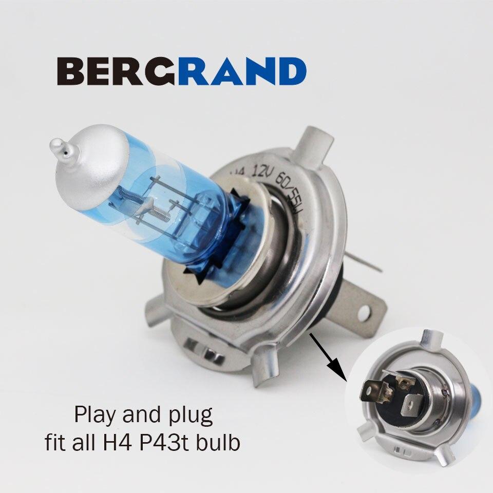 2PCS H4 halogenska svetilka 12V 60 / 55W Super Vision Ultra 4300K - Avtomobilske luči - Fotografija 4