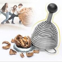 Edelstahl Frühling Scheller Walnut Cracker Mutter Öffner Werkzeug Küche Kreative WLL9229