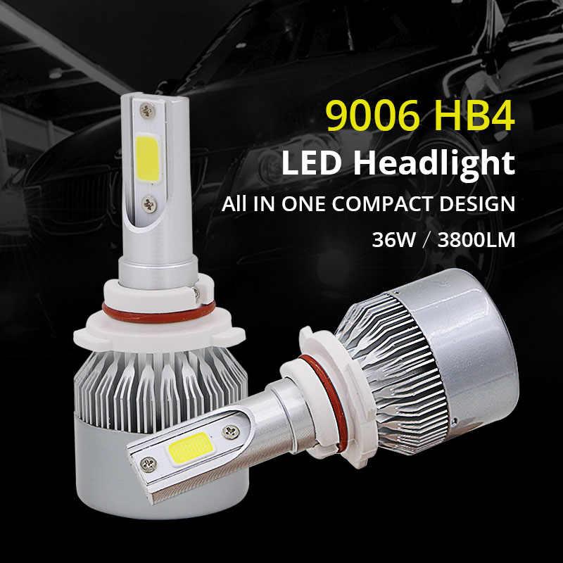 Edislight 72W 7600LM 9006 HB4 LED Headlight Kit Low Beam Bulbs For 1997-2003 Chevy Chevrolet Malibu White Car Light Headlamp