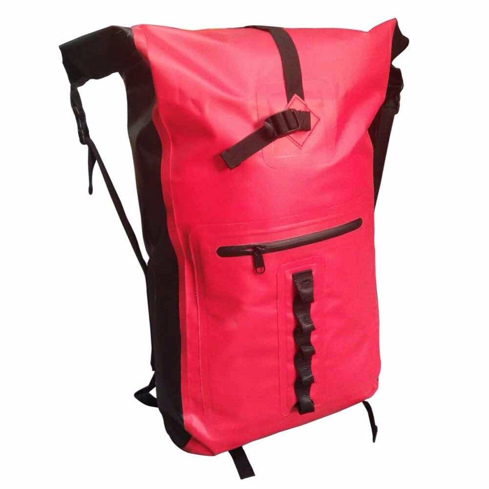 32L al aire libre río Trekking bolsa doble correas de hombro Paquete de agua natación mochila bolsas a prueba de agua para la deriva kayak - 3