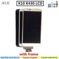 Black White Gold 5.3 Inch for LG K10 K410 K430 K430DS K420N 420N Touch Screen Digitizer Assembly with 3M Sticker