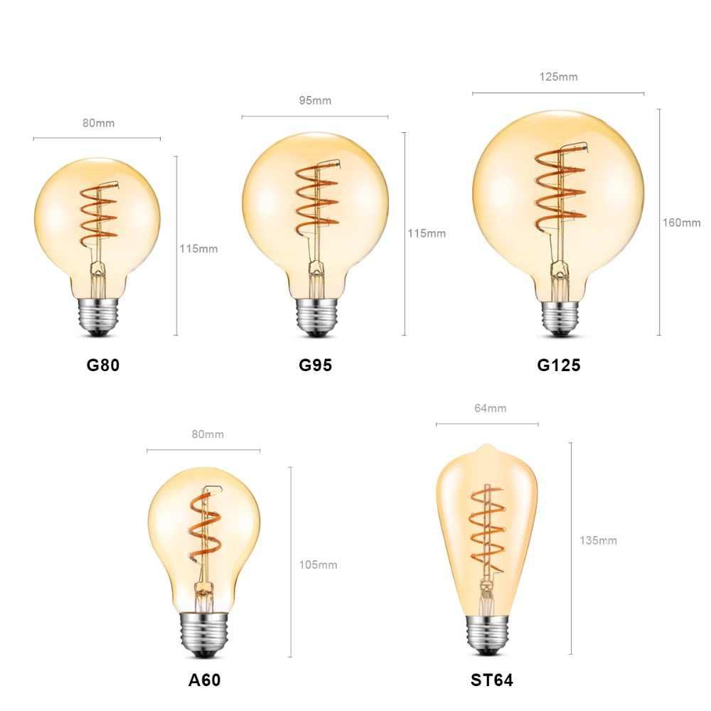 retro edison led light bulb e27 110v 220v filament lamp replace decoration incandescent bulb a60 st64  [ 1000 x 1000 Pixel ]