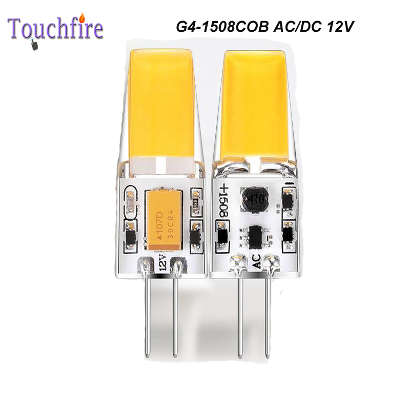 10pcs G4 1508 COB LED Bulb Tubes Corn Lamp 2.2W 12V AC White/Warm Light 360 Beam Angle replace Halogen Spotlight Chandelier