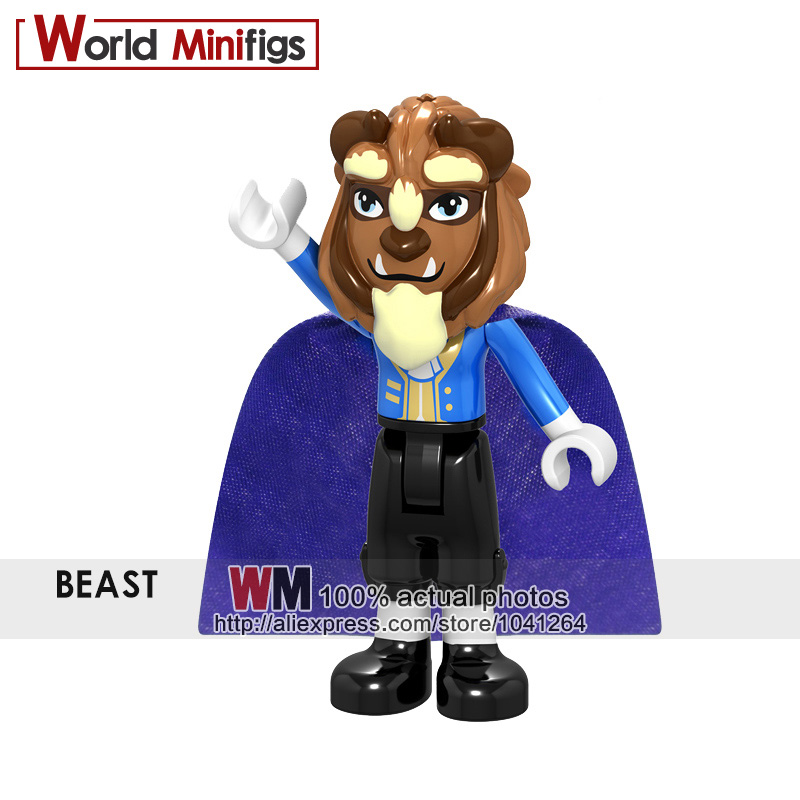 a5aaff373e9 Single Sale Building Blocks New Princess Girl BEAST Ariel Maleficent Anna  Olaf Elsa Prince Eric Model Action Figures Christmas