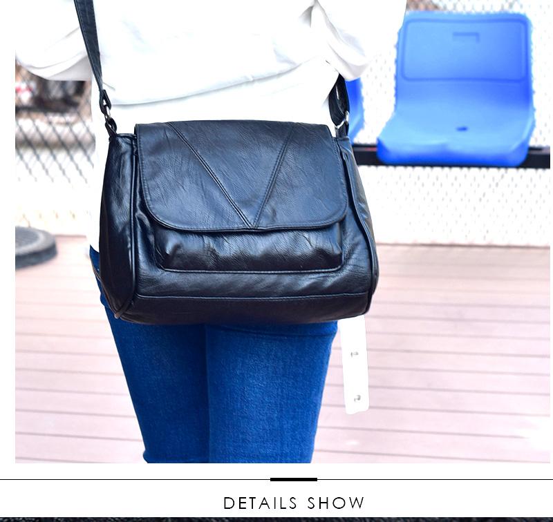 18 Women Messenger Bags Crossbody Soft Leather Shoulder Female Bag Flap Bolsa Feminina Designer Handbags High Quality Brand 12