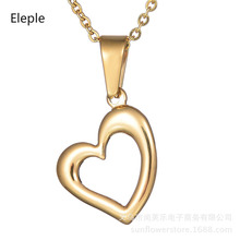 Eleple Fashion Love Hollow Clavicle Short Necklaces Women Titanium Steel Heart Necklace Party Jewelry Accessories S-N285