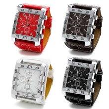 Quartz Watches Fashion Chic Leather Band Men Women Wrist Watch
