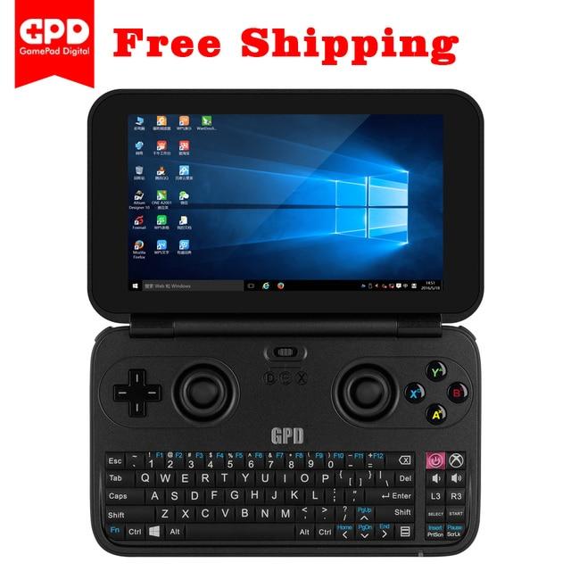 GPD Win 5.5 дюймов мини игровой ноутбук Процессор x7-z8750 Оконные рамы 10 Системы 4 ГБ/64 ГБ Бесплатная подарки пакет