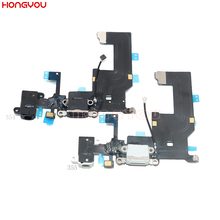 USB Charging Port Connector Charge Dock Socket Plug Flex Cable For 5 5G With Headphone Audio Jack цена