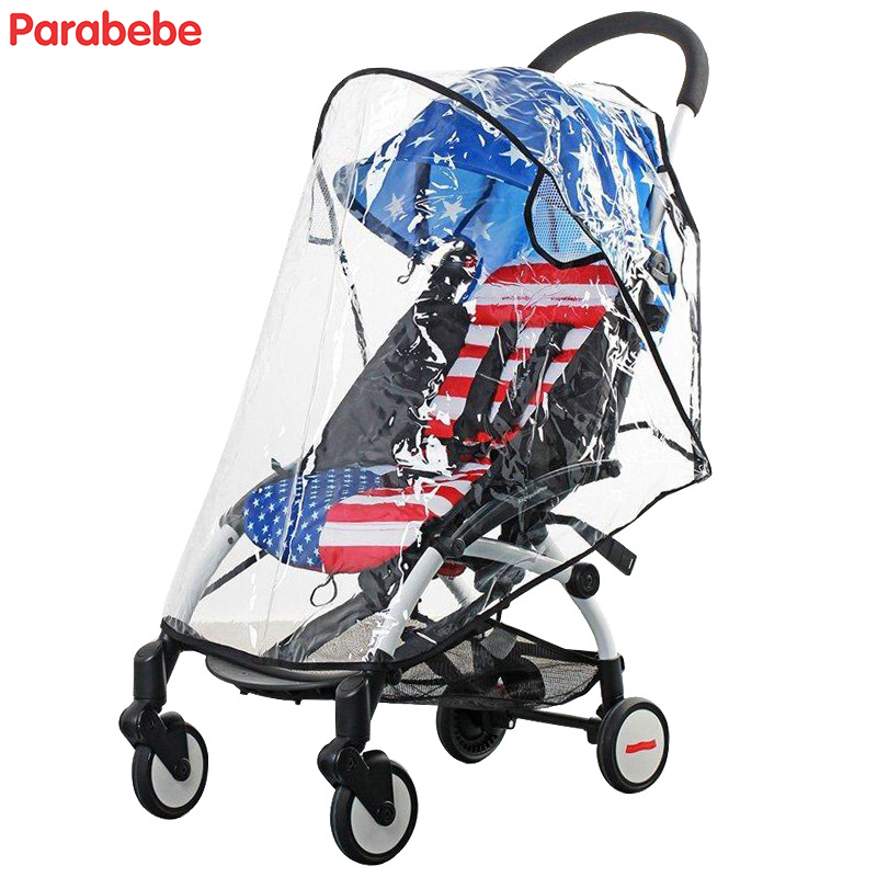 PVC Transparent Baby Accessories Baby Stroller Rain Cover Universal Baby Car Raincoat For Babyzen Yoyo Yoya Stroller Accessories