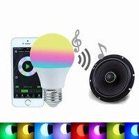 Bluetooth Inteligentne Żarówka LED 4.5 W RGBW 4.0 Smartphone Kontrolowane E27 Możliwość Przyciemniania Lampy Led Tryb Spania Inteligentne Oświetlenie Domu