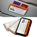 Estilo do carro viseira carro clipe cartão Auto veículo modificação Universal de armazenamento multifuncional slot para cartão titular do cartão de estacionamento