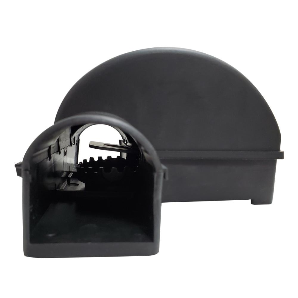 Tunneled Rat Trap Dual Entry Rodent Snap Trap Mouse Bait Station with Child Safe Pet Safe Trigger Pedal title=