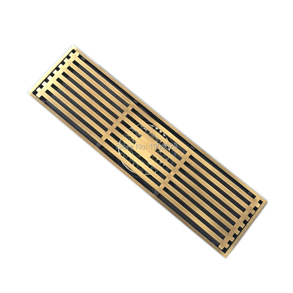 2017 New Classic Antique Old Style Vintage Brass Floor Drain Cover Bronze Shower Waste Drainer free shipping europe style high quality brass art carved flower gold square 4 size deodorization floor drain waste drain