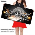 Mairuige Shop DIY Cs go mouse pad 90X40CM black laptop for dota league of legend player speed control keyboard gaming mouse pad