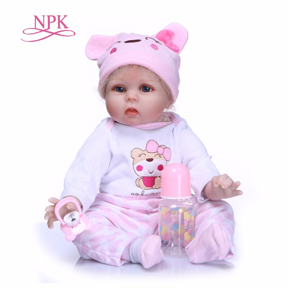 NPK New Product Simulation Baby Be Reborn Doll full silicone body Doll Wash Bath Toys Gift