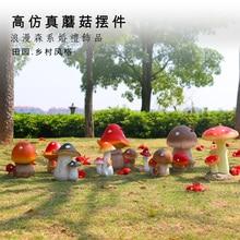 For decoration garden decor resin artificial plant mushroom garden decoration resin craft home Ornaments 11pcs lot