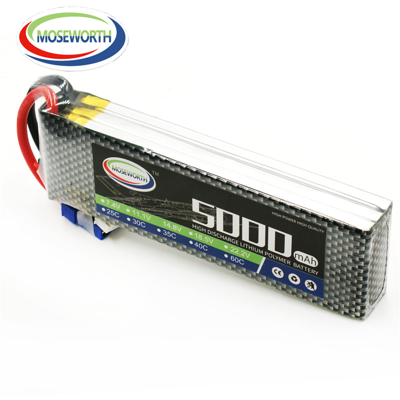 MOSEWORTH RC 3s RC lipo battery 11.1v 5000mah 35c-70c for rc airplane helicopter drone AKKU free shipping