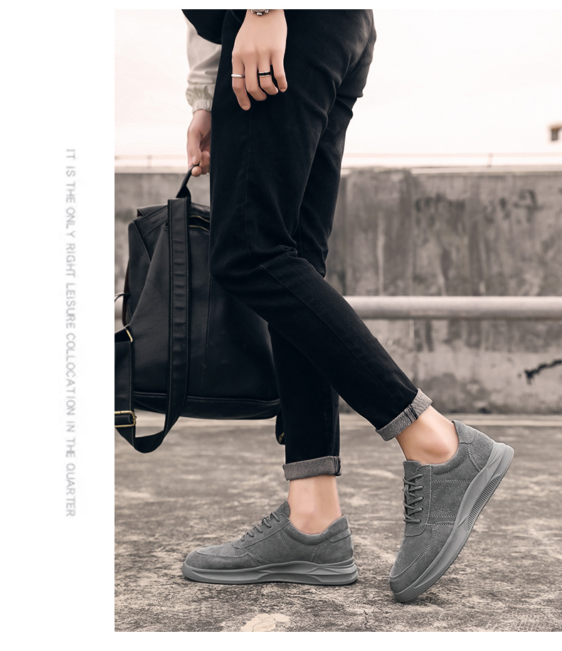Genuine Leather unisex Suede sneakers 8