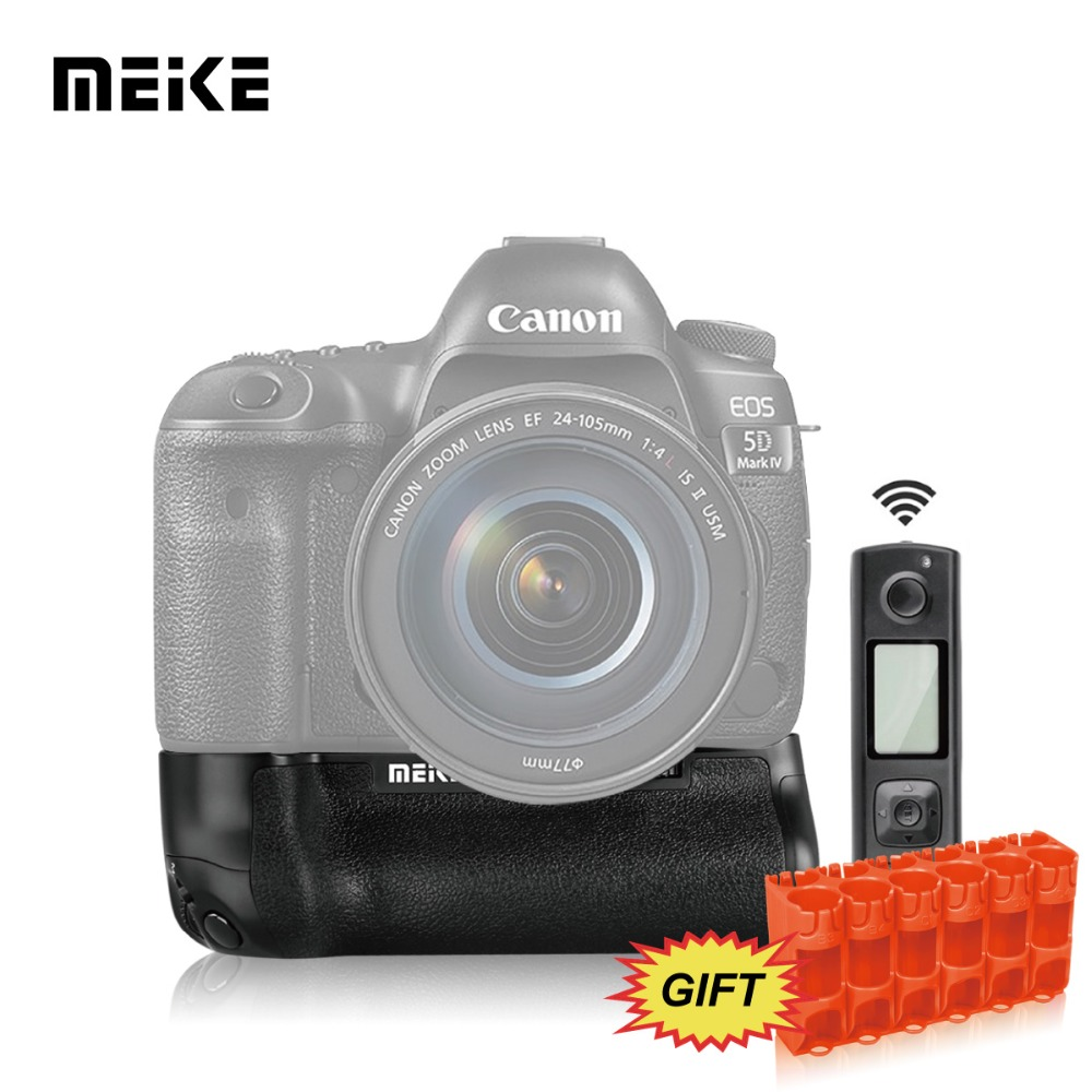 Meike MK-5D4 Pro battery grip with wireless remote control for 5D mark IV meike mk 760d pro built in 2 4g wireless control battery grip suit for canon 750d 760d as bg e18