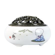 hong yizhai yixing yixing tea handmade antique ore ruyi incense censer lying Incense Burners Ceramic Portable Porcelain Censer Buddhism Incense Holder Home Tea house Yoga Studio Gift