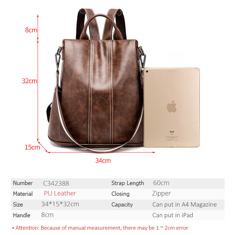 POMELOS Backpack Women 2019 New High Quality PU Leather Fashion Backpack For Women Urban Girls Functional Anti Theft Backpack