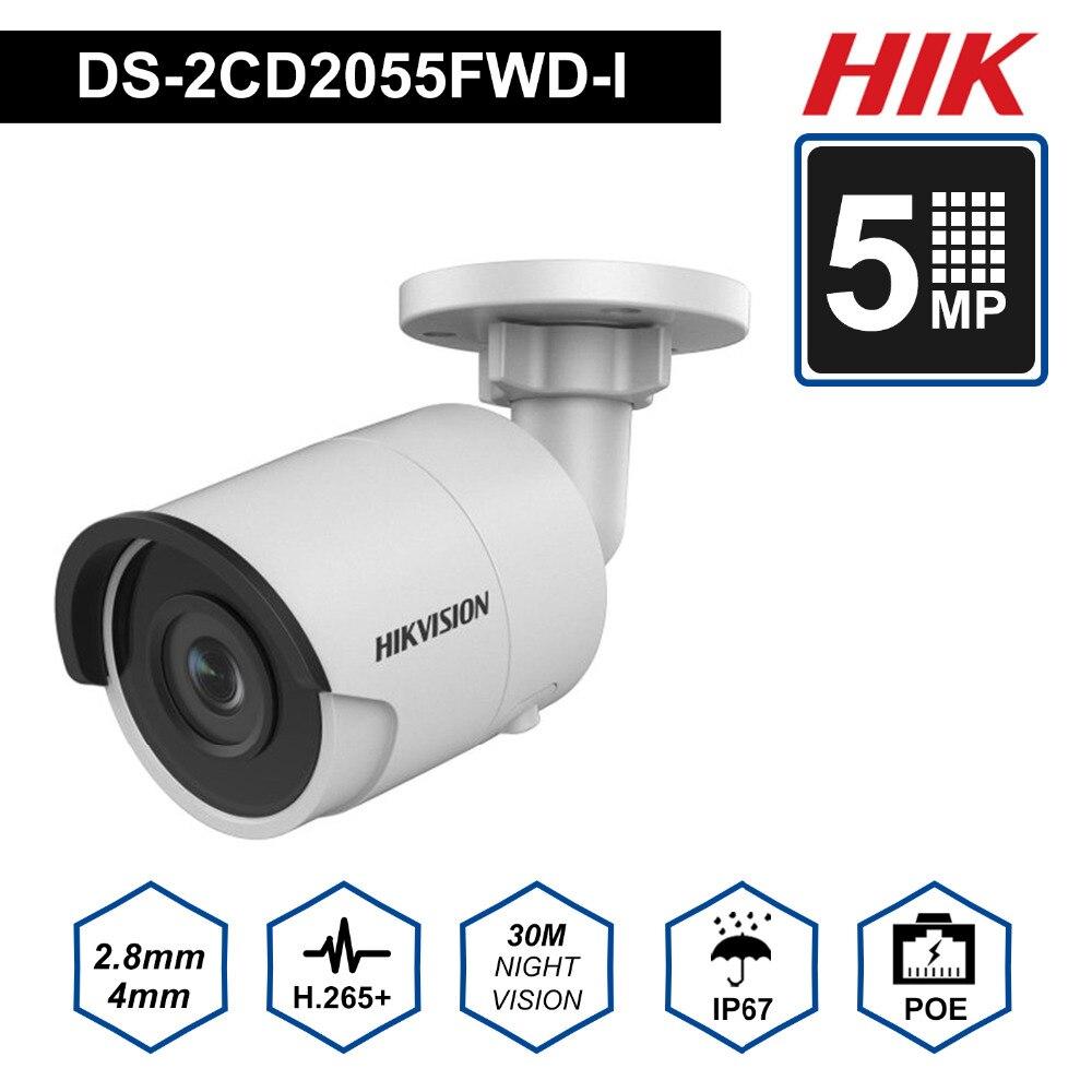 Hik английский EasyIP3.0 безопасности IP Камера H.265 DS 2CD2055FWD I 5MP Мини Пуля сети IP Камера с ночным версия IP67 и слот