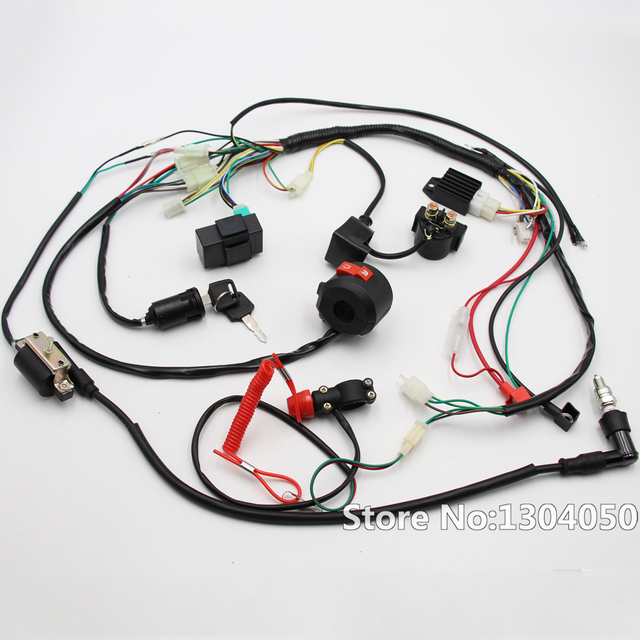 full engine wiring harness loom solenoid coil rectifier cdi 50cc rh aliexpress com Wiring Harness Loom Tips Two Harness Loom