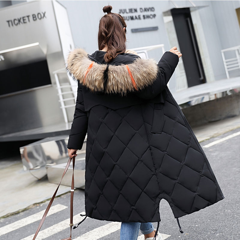 515d2425d896d Dropwow Plus Size Winter Women Jacket Coats Big Fur Hooded Warm ...