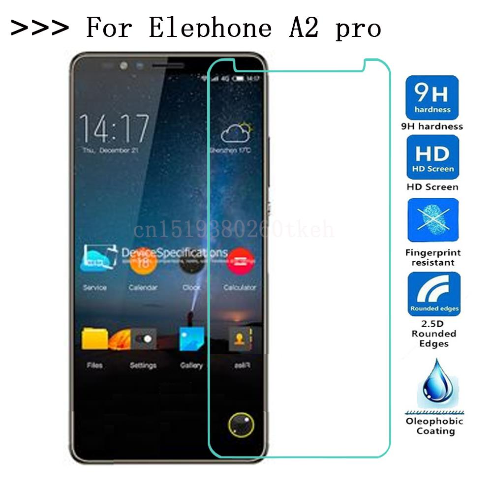 For Elephone A2 pro Tempered Glass On Elephone A2pro Screen Protector 9h Toughened Protective Glass Elephone A2 phone film