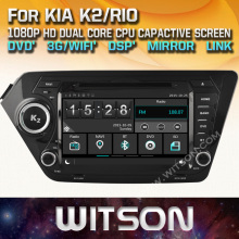 WITSON CAR DVD GPS For KIA K2/RIO New Technology+Capctive Screen+1080P+DSP+WiFi+3G+DVR+Good Price+GIFT+Free shipping