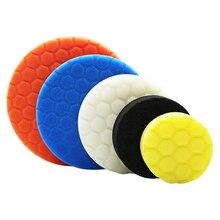 цена на 3pcs 3/4/5/6/7 Inch Buffing Sponge Polishing Pad Hand Tool Kit For Car Polisher Wax Free Shipping